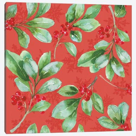 Holiday Flora Pattern VB Canvas Print #BEG75} by Beth Grove Canvas Art