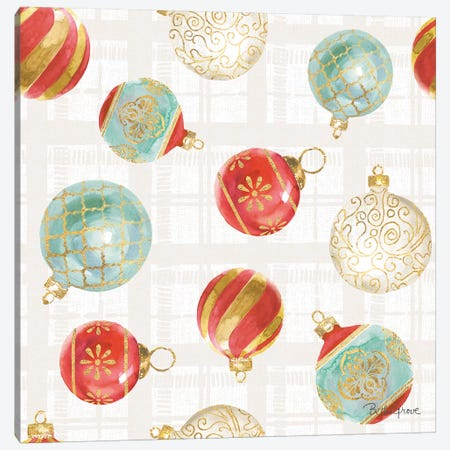 Holiday Flora Pattern VIA Canvas Print #BEG77} by Beth Grove Canvas Artwork