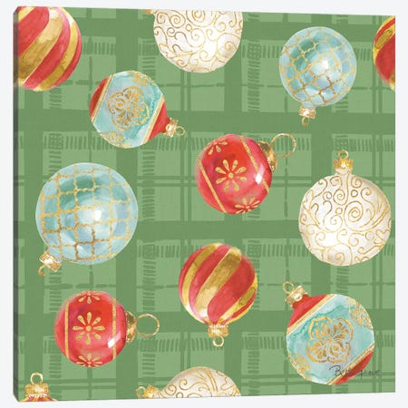 Holiday Flora Pattern VIB Canvas Print #BEG78} by Beth Grove Art Print