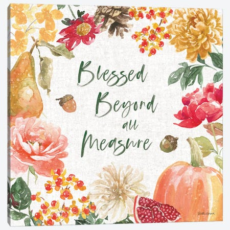 Harvest Bouquet III Canvas Print #BEG84} by Beth Grove Canvas Print
