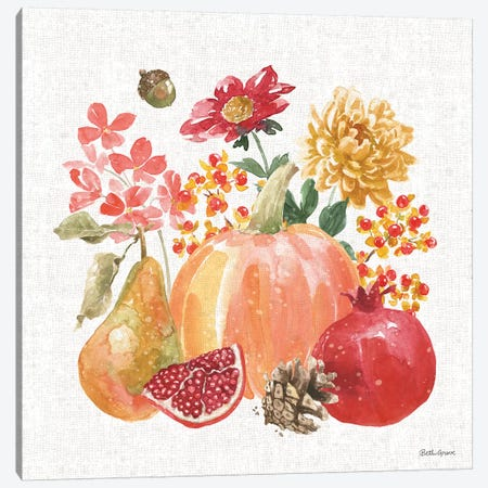 Harvest Bouquet VI Canvas Print #BEG87} by Beth Grove Canvas Art Print
