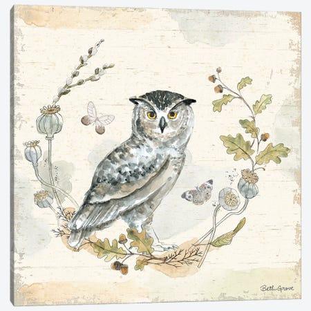 Woodland Wreath IX Canvas Print #BEG8} by Beth Grove Canvas Wall Art