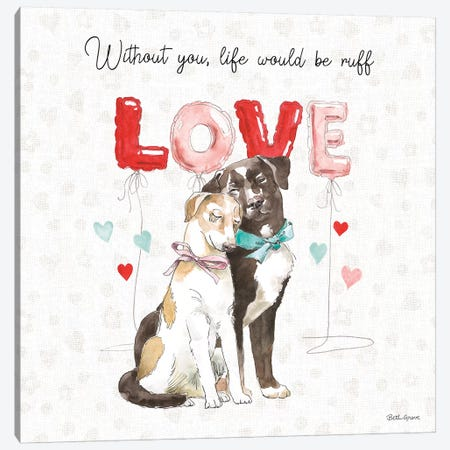Paws of Love IV Canvas Print #BEG91} by Beth Grove Art Print