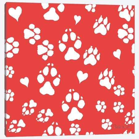 Paws of Love Pattern IIIC Canvas Print #BEG97} by Beth Grove Canvas Artwork
