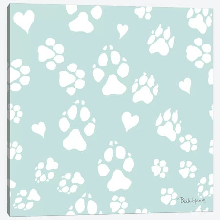 Paws of Love Pattern IIID Canvas Print #BEG98} by Beth Grove Canvas Art Print