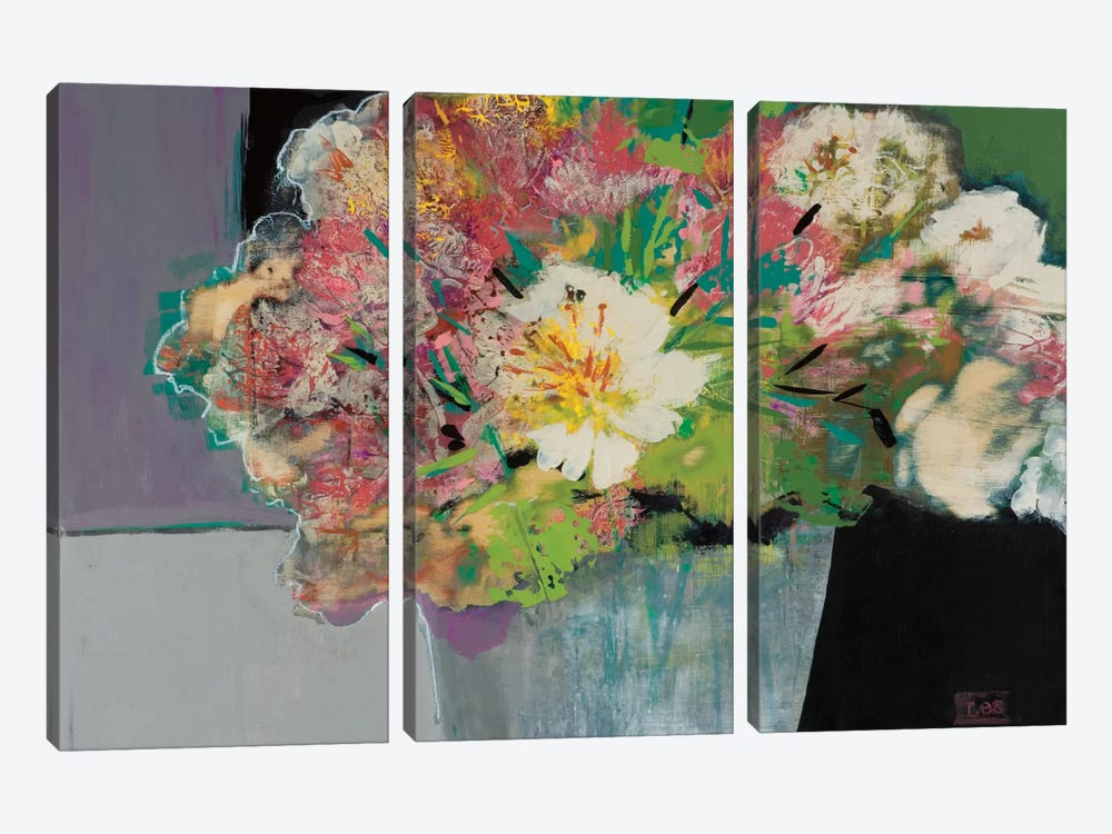 Flower Market by Leslie Bernsen 3-piece Canvas Wall Art