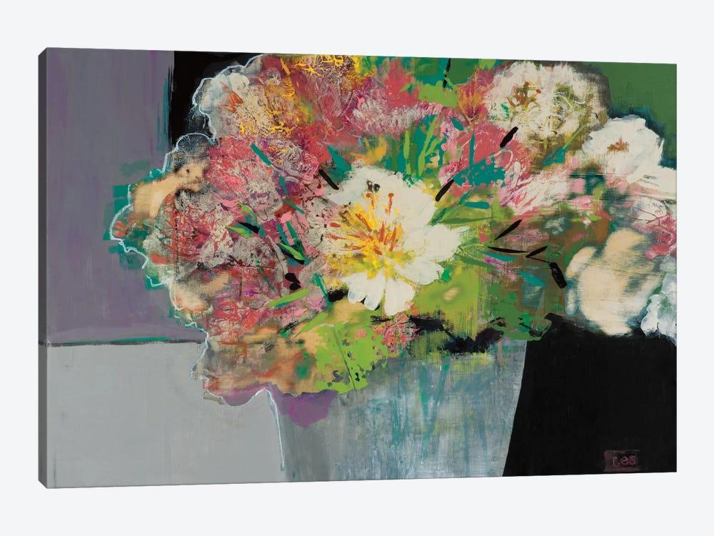 Flower Market by Leslie Bernsen 1-piece Canvas Artwork