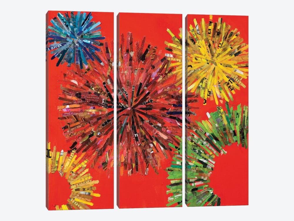 Spin I by Leslie Bernsen 3-piece Canvas Wall Art