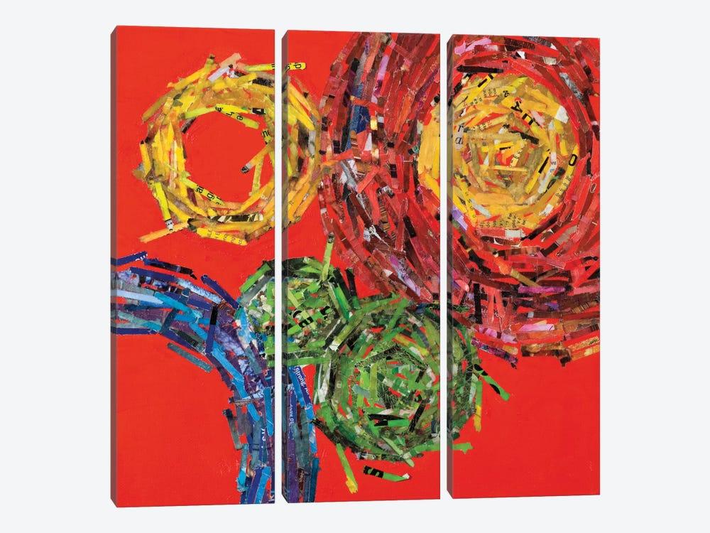 Spin II by Leslie Bernsen 3-piece Canvas Art