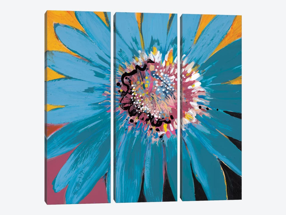 Sunshine Flower II by Leslie Bernsen 3-piece Canvas Art