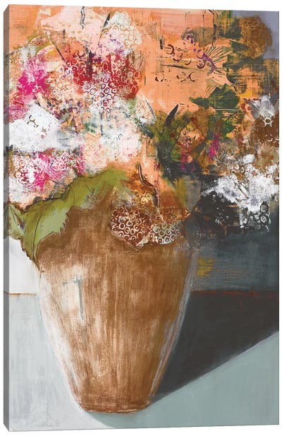 Two Dozen Blooms Canvas Art Print