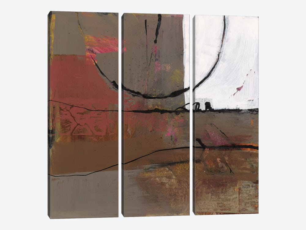 White Resonance I by Leslie Bernsen 3-piece Canvas Art