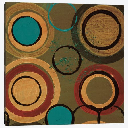 Circle Designs I Canvas Print #BER7} by Leslie Bernsen Canvas Print