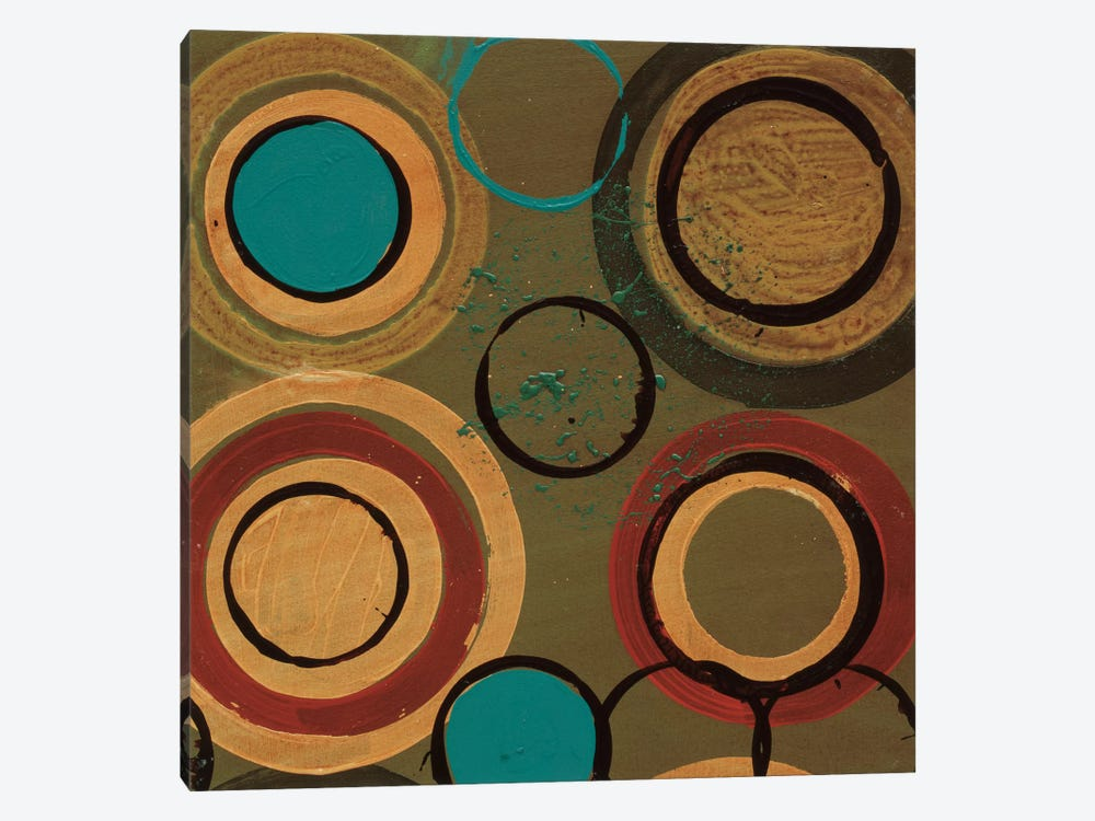 Circle Designs I 1-piece Canvas Wall Art