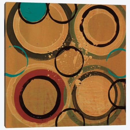 Circle Designs II Canvas Print #BER8} by Leslie Bernsen Canvas Wall Art