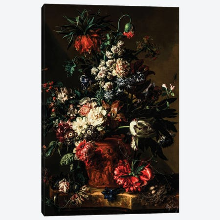 Flower In Vase Canvas Print #BFD100} by Bona Fidesa Canvas Wall Art