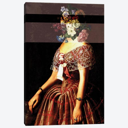Flower Headed Chic Woman Canvas Print #BFD27} by Bona Fidesa Canvas Art