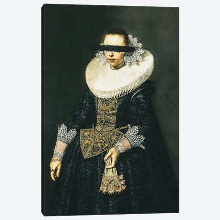 Altered Vintage Noblewoman Portrait Canvas Print #BFD66} by Bona Fidesa Canvas Wall Art