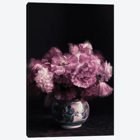 Pink Peonies In Vase Canvas Print #BFD81} by Bona Fidesa Canvas Art Print