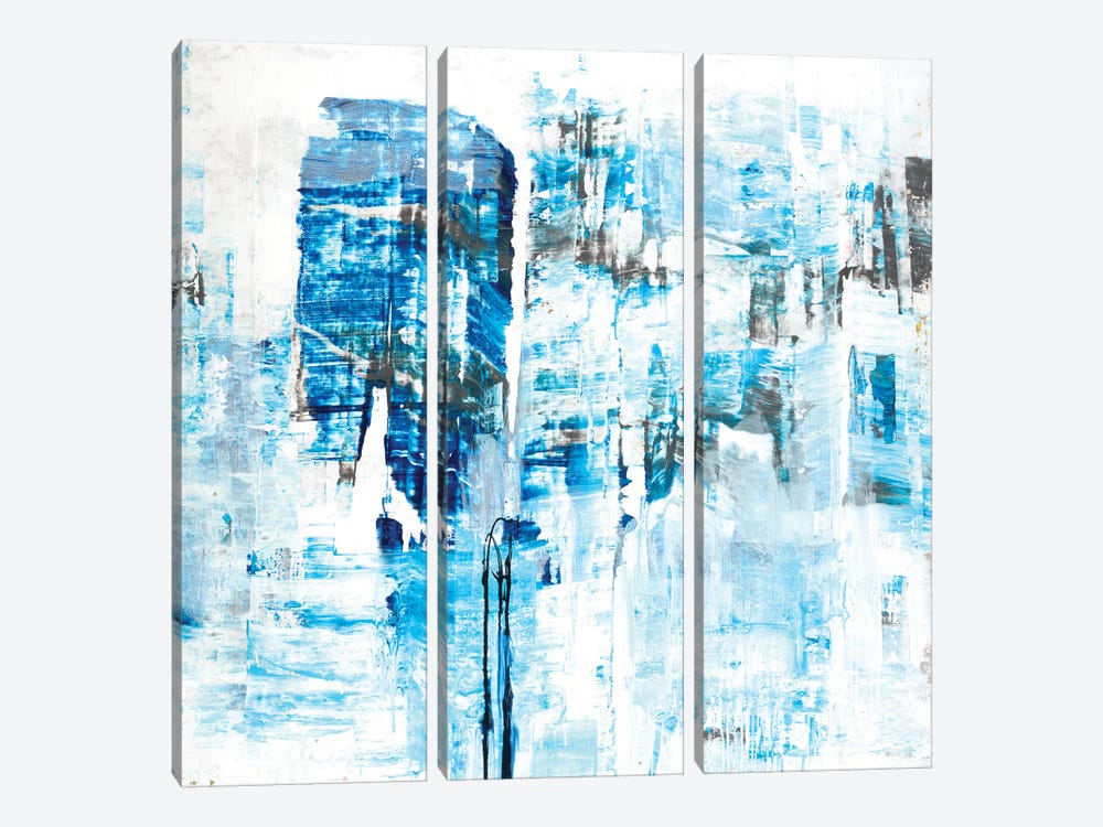 Azure Dreams by Brent Foreman 3-piece Canvas Wall Art