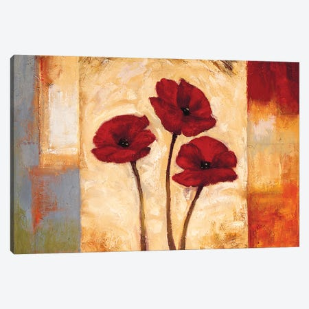 Poppies In Rhythm I Canvas Print #BFR16} by Brian Francis Canvas Art Print