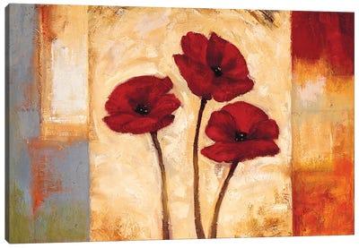 Poppies In Rhythm I Canvas Art Print