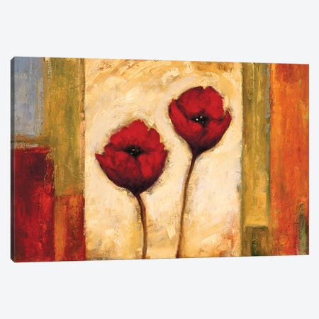 Poppies In Rhythm II Canvas Print #BFR17} by Brian Francis Canvas Art Print
