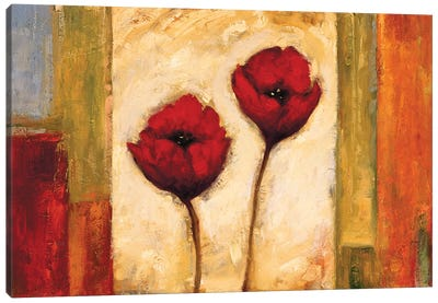 Poppies In Rhythm II Canvas Art Print