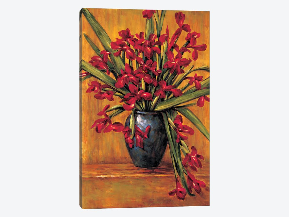 Red Irises by Brian Francis 1-piece Canvas Art