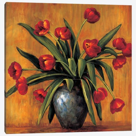 Red Tulips Canvas Print #BFR20} by Brian Francis Canvas Art Print