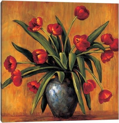 Red Tulips Canvas Art Print