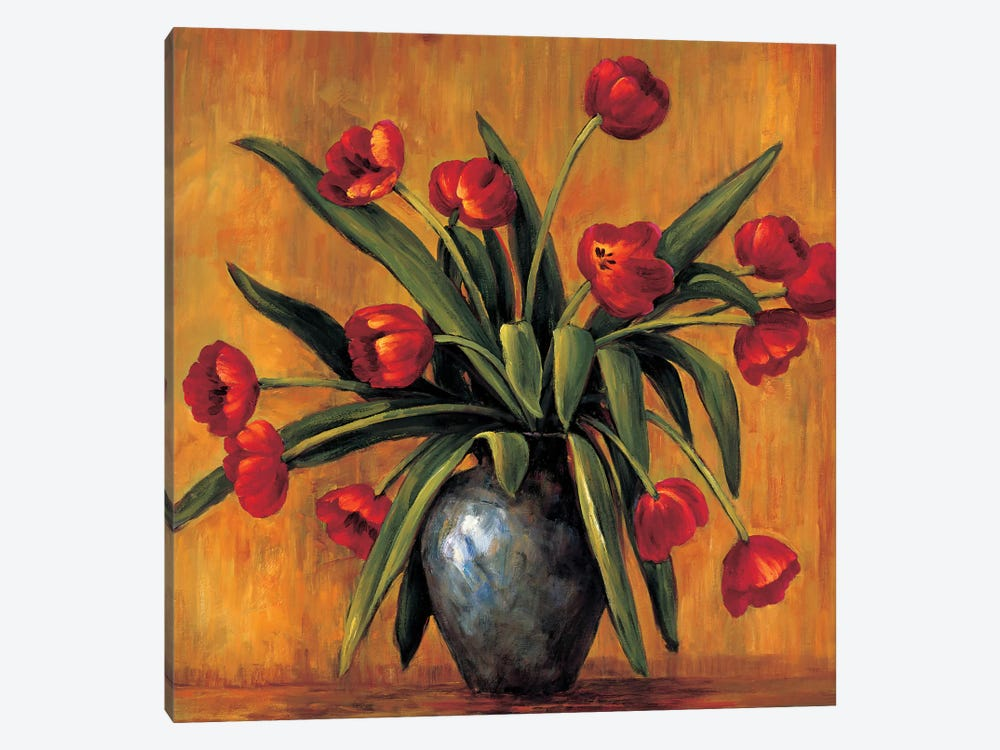 Red Tulips by Brian Francis 1-piece Canvas Art