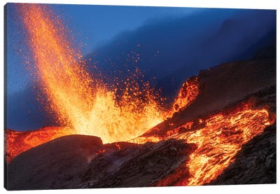 Hot Landscape Canvas Art Print