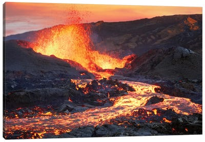 La Fournaise Volcano Canvas Art Print