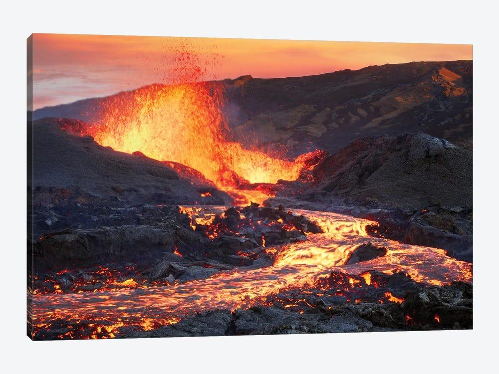 La Fournaise Volcano by Barathieu Gabriel 1-piece Canvas Art