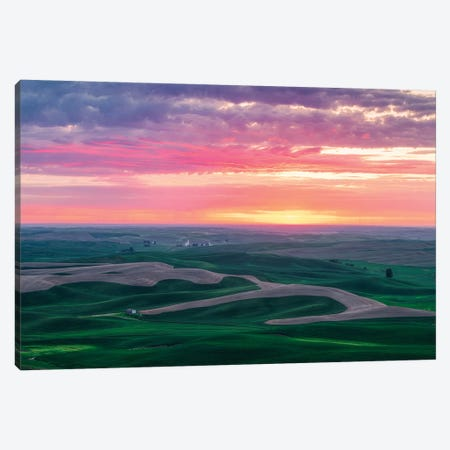 Palouse Sunset 3-Piece Canvas #BGE1} by Bruce Getty Canvas Wall Art