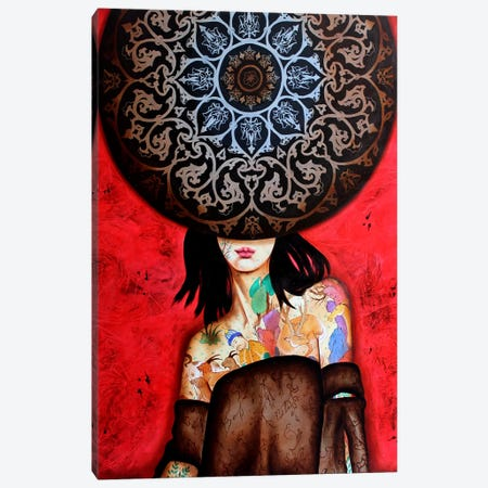 Peace Lady Collection II Canvas Print #BGH21} by Alemeh Bagherian Canvas Art