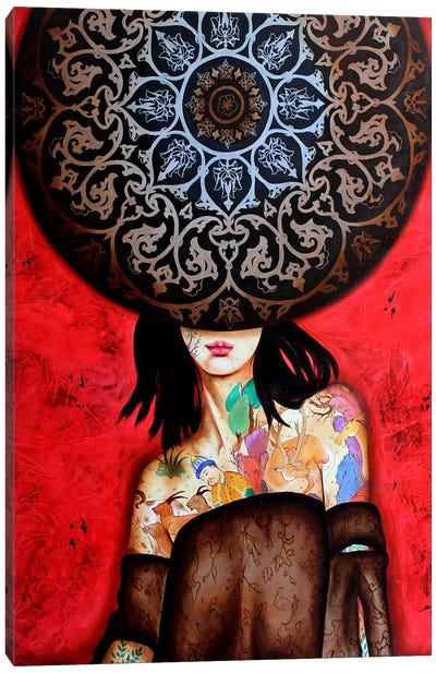 Peace Lady Collection II Canvas Art Print