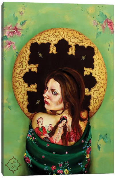 Peace Lady Collection III Canvas Art Print