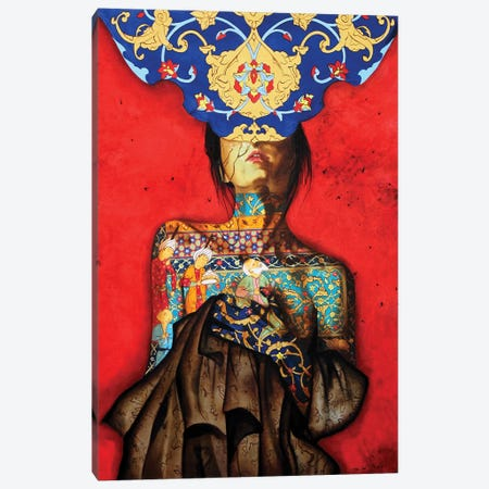 Peace Lady Collection V Canvas Print #BGH24} by Alemeh Bagherian Art Print