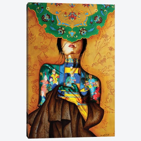 Peace Lady Collection VI Canvas Print #BGH25} by Alemeh Bagherian Art Print
