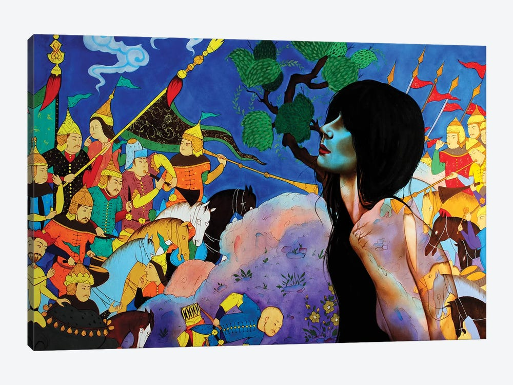 Shahname Story II by Alemeh Bagherian 1-piece Art Print