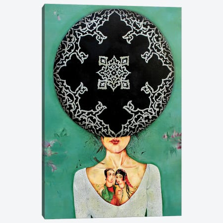 War Lady Collection II Canvas Print #BGH34} by Alemeh Bagherian Canvas Art