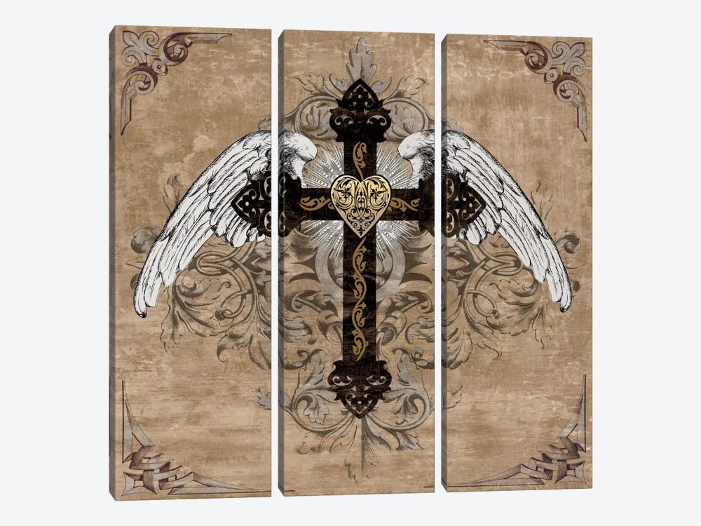 Cross I by Brandon Glover 3-piece Canvas Art
