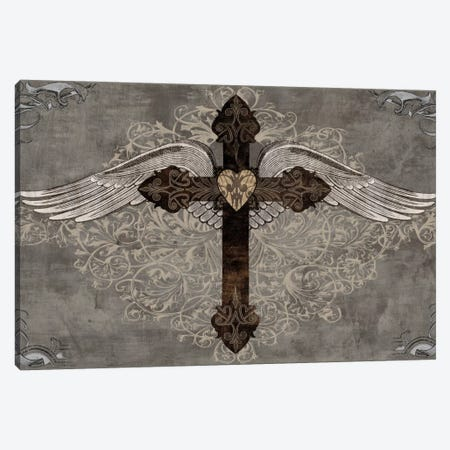 Cross With Wings Canvas Print #BGL4} by Brandon Glover Canvas Art