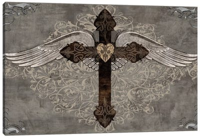 Cross With Wings Canvas Print #BGL4