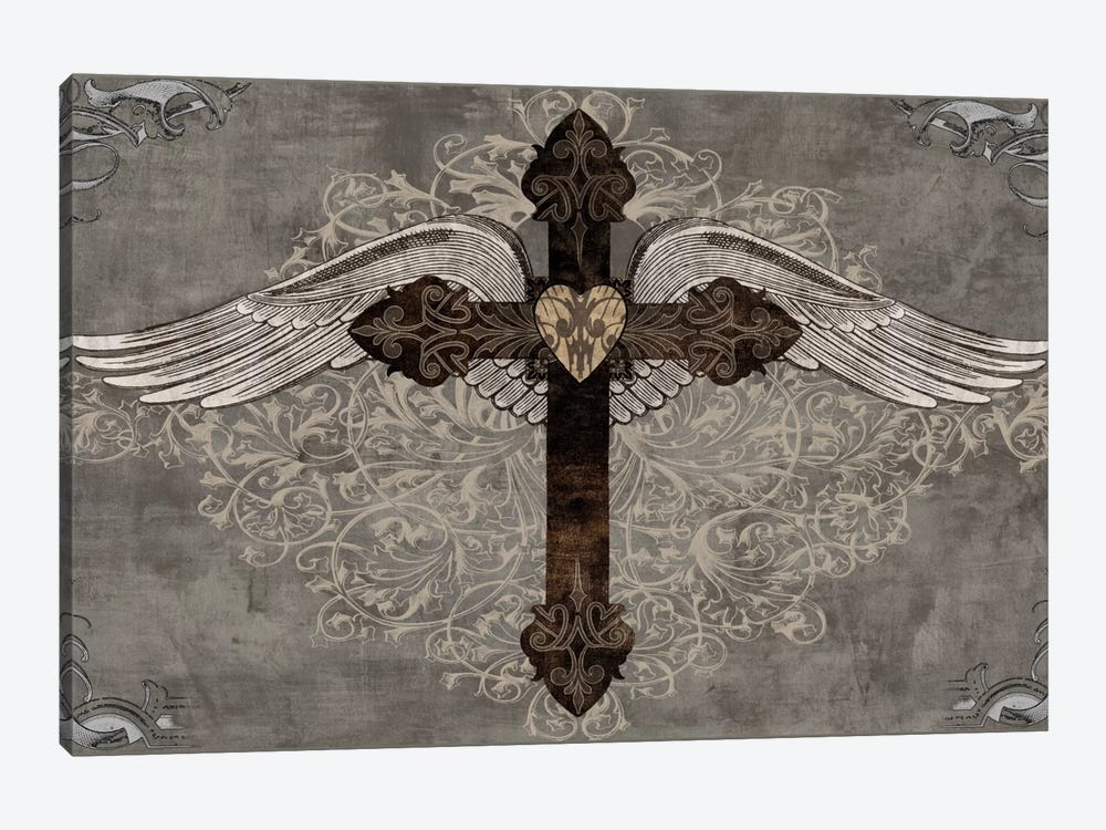 Cross With Wings by Brandon Glover 1-piece Canvas Artwork
