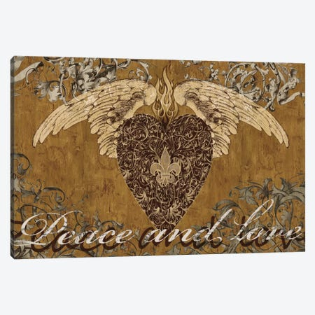 Peace And Love Canvas Print #BGL8} by Brandon Glover Canvas Art Print