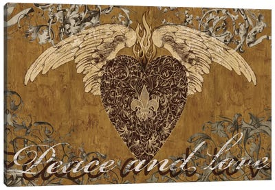 Peace And Love Canvas Art Print