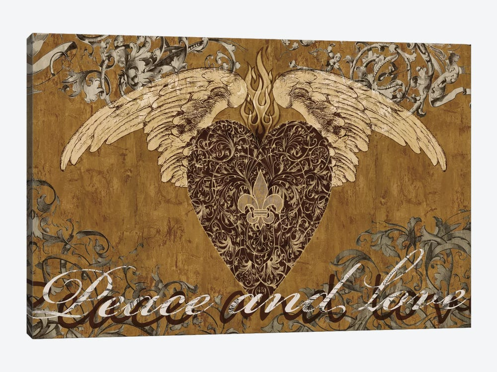Peace And Love by Brandon Glover 1-piece Canvas Wall Art